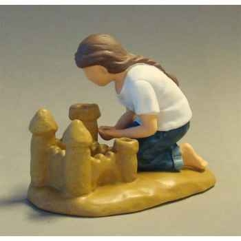 Figurine blue jeans sand castle  - bj18401