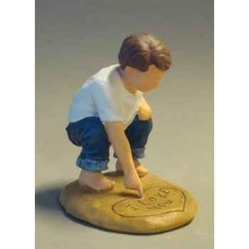 Figurine blue jeans love letters - bj18406