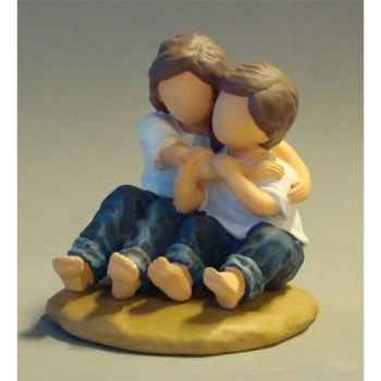 Figurine blue jeans hugs  - bj18407
