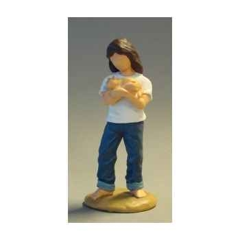 Figurine blue jeans caring  - bj18413