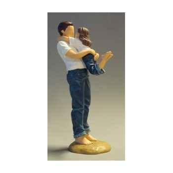 Figurine blue jeans daddy\'s arms - bj18419