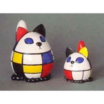 Figurine ménagerie géométrique - chats - meg03