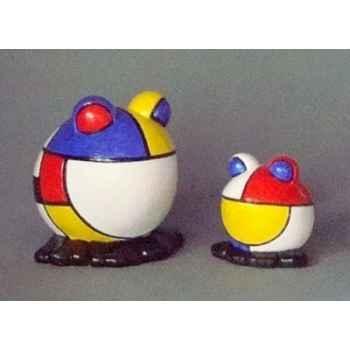 Figurine ménagerie géométrique - grenouilles  - meg04