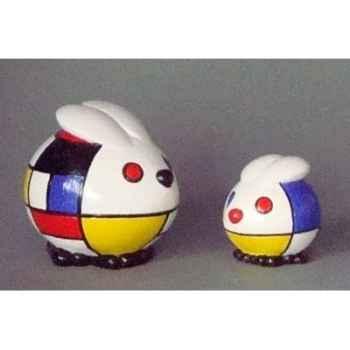 Figurine ménagerie géométrique - lapins  - meg05