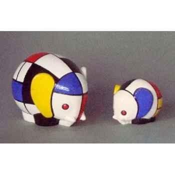 Figurine ménagerie géométrique - eléphants  - meg07