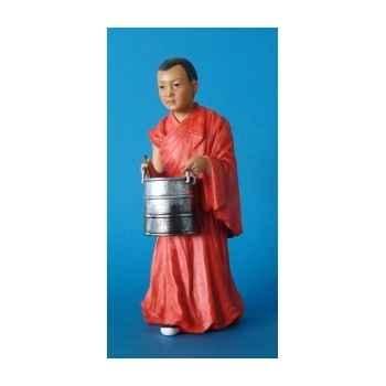 Figurine tibet jinpa boy with bucket colour - tib001