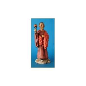Figurine tibet choden boy prayer wheel col - tib002