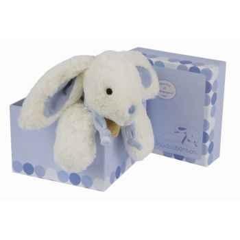Doudou et Compagnie Doudou Lapin bonbon gm - bleu -1241