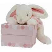 doudou et compagnie doudou lapin bonbon gm rose 1242