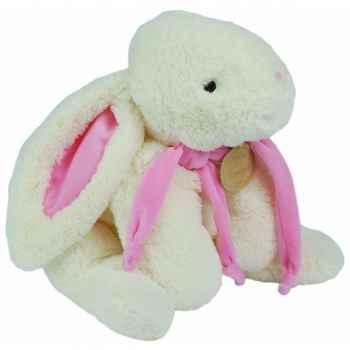 Doudou et Compagnie Doudou Lapin bonbon range pyjama+coffre - rose -1245