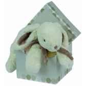 doudou et compagnie doudou lapin bonbon range pyjamacoffre taupe 1246
