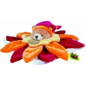 Doudou et Compagnie Doudou collector fleur orange -228