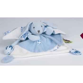 Doudou et Compagnie Doudou tatoo lapin gm -  bleu -1267