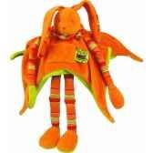 doudou et compagnie doudou pantin longues jambes orange 021lt