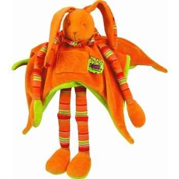 Doudou et Compagnie Doudou Pantin longues jambes - orange -021LT