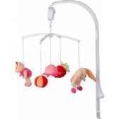 doudou et compagnie doudou mobile musicafruits roses dc2075