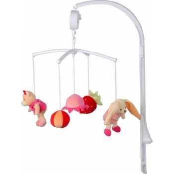 Doudou et Compagnie Doudou Mobile musical - fruits roses -DC2075