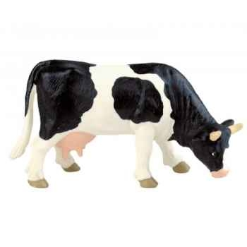 Figurine bullyland vache noire et blanche -b62442