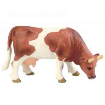 Figurine bullyland vache marron et blanche -b62444