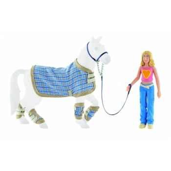Figurine bullyland set - transport du cheval  -b80851