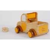 petit ours et son camion en bois ho1404