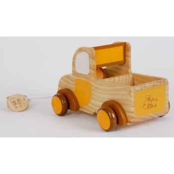 Petit ours et son camion en bois -ho1404