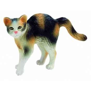 Figurine bullyland chat domestique marron et noir -b66362