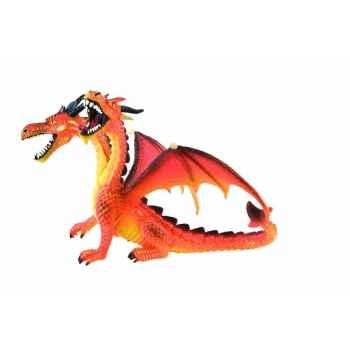 Figurine bullyland dragon rouge à deux têtes  -b75598