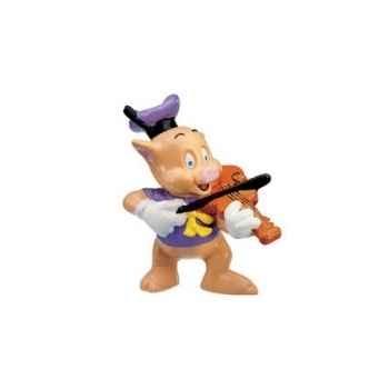 Figurine bullyland petit cochon violoniste -b12491
