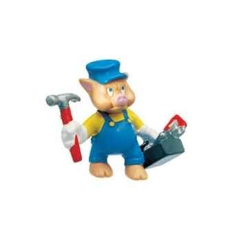 Figurine bullyland petit cochon mécanicien -b12492