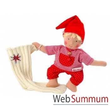 Poupée käthe kruse waldorf bébé gnome chaussettes blond -38316