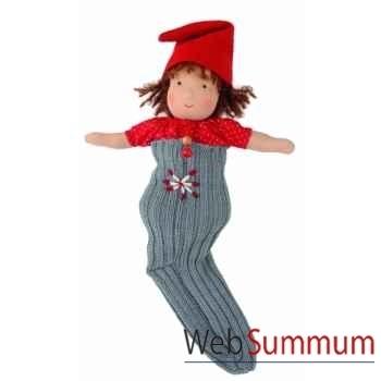 Poupée käthe kruse waldorf bébé gnome chaussettes brun -38317