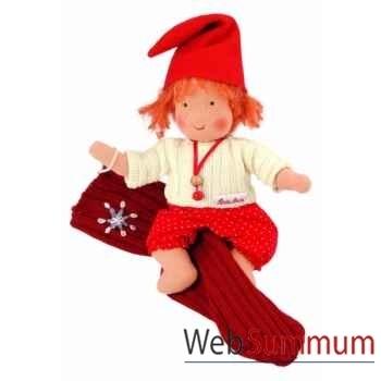 Poupée käthe kruse waldorf bébé gnome chaussettes rouge -38318