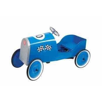 Voiture à pédales voiture de course grand racer bleue toys pure -14095 Jouets Web-Summum