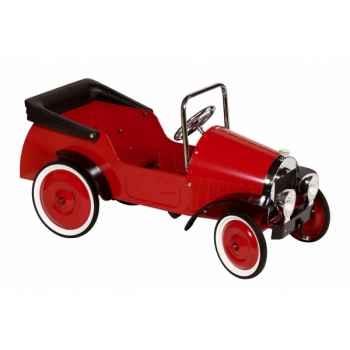 Voiture à pédales rouge grand toys pure -14085 Jouets Web-Summum