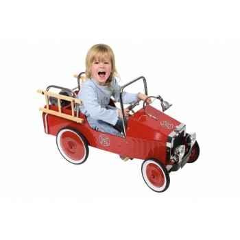 Voiture à pédales pompiers rouge toys pure -14069 Jouets Web-Summum