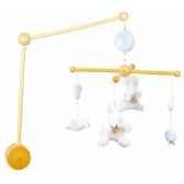 mobile musicabois lapin bonbon bleu doudou et compagnie dc2096
