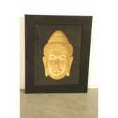 art asiatique frame w buddha head pagoda pm2719rp