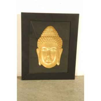 Art asiatique frame w/buddha head pagoda -pm2719rp