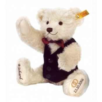 Peluche steiff ours teddy marié, blanc -001970