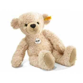 Peluche steiff ours teddy happy, beige -012600