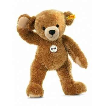 Peluche steiff ours teddy happy , brun clair -012648