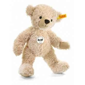 Peluche steiff ours teddy happy, beige -012655