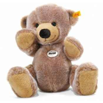 Peluche steiff ours teddy emil, brun clair chiné -012686