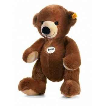 Peluche steiff ours teddy emil, brun foncé -012709