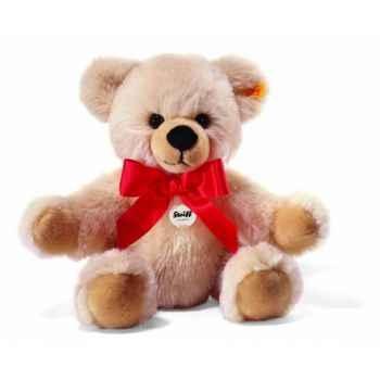 Peluche steiff ours teddy-pantin bobby, crème -014031