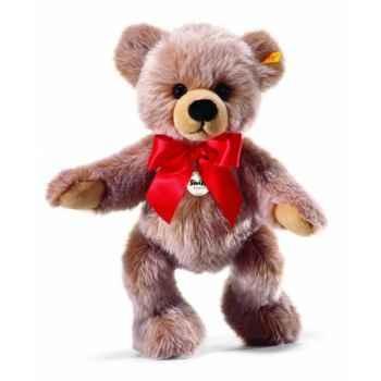 Peluche steiff ours teddy-pantin bobby, brun chiné -014154