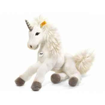 Peluche steiff licorne-pantin starly, blanche -015045