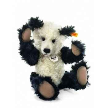 Peluche steiff ours teddy lukas noir/blanc moh -027987