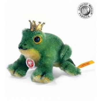 Peluche steiff grenouille happy, verte -033247